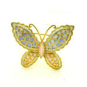 JJ Pastel Enamel Butterfly Pin